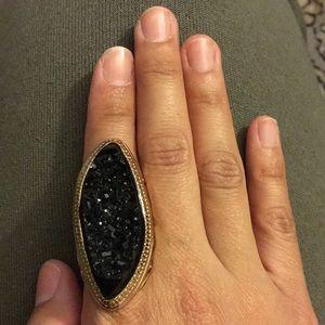 Black deco ring